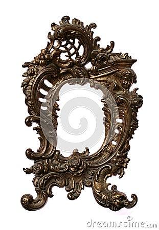 Antique Baroque Brass Frame