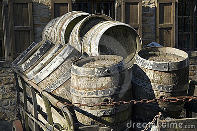 Antique beer barrels