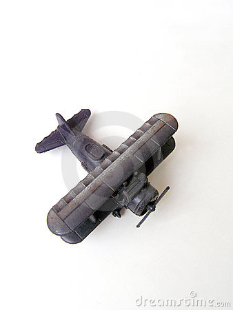 Free Antique Biplane Toy Model Royalty Free Stock Photo - 5134385