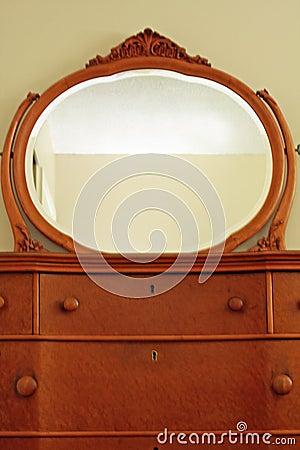 Antique Bird S Eye Maple Dresser And Mirror Royalty Free