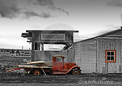 Antique Blacksmith Shop and Truck HDR