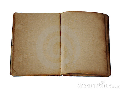 Antique Blank Open Book