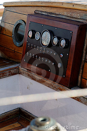 Antique Boat Instrument Panel