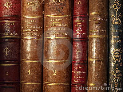 Antique books Editorial Stock Photo