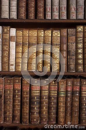 Free Antique Books On Bookshelf Royalty Free Stock Image - 25522076
