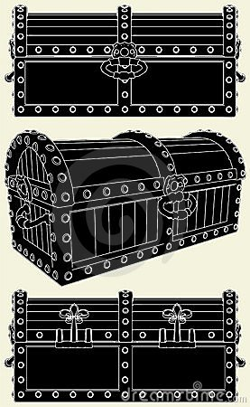 Antique Box Of Treasure Vector 01