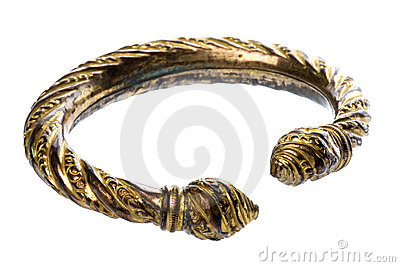 Antique Brass Ankle Bangle