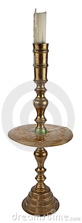 Antique brass candleholder