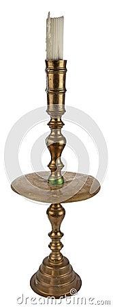 Antique brass candleholder