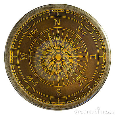 Free Antique Brass Compass Royalty Free Stock Photos - 3500178