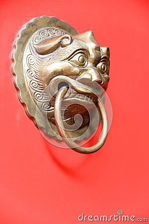 Antique brass door knocker