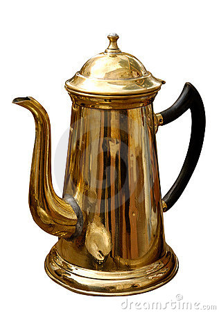 Free Antique Brass Kettle Royalty Free Stock Photos - 1017208