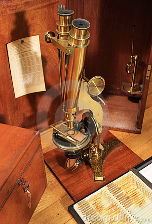 Free Antique Brass Microscope Stock Photo - 7709290