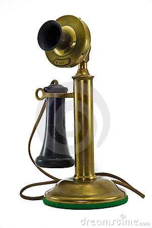 Free Antique Brass Phone Royalty Free Stock Images - 6404279