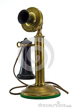Antique Brass Phone