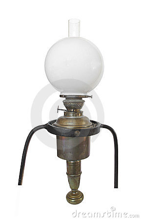 Free Antique Brass Ship's Oil Lamp Isolated. Stock Photo - 24176180