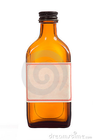 Free Antique Brown Prescription Bottle Stock Photography - 5146362