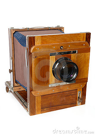 Free Antique Camera On The White Royalty Free Stock Photo - 15295165