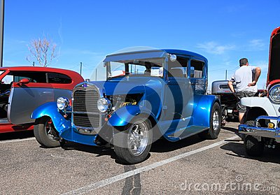 Antique Car as Street Rod: Ford 1929  Editorial Stock Photo