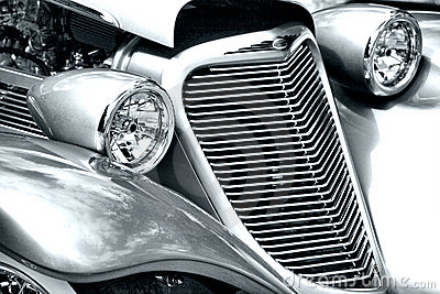 Antique Car Headlight and Grill