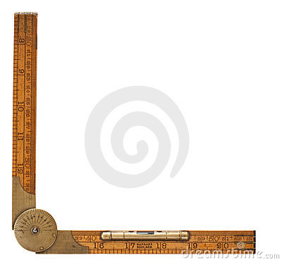 Free Antique Carpenter S Folding Ruler Of 19th Century Royalty Free Stock Images - 11058239