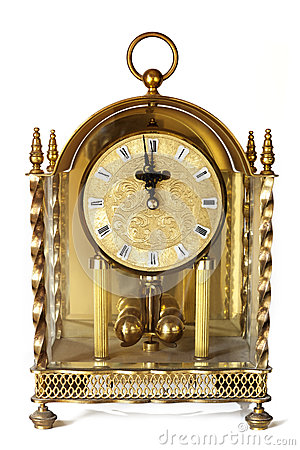 Antique Carriage Clock Isolated