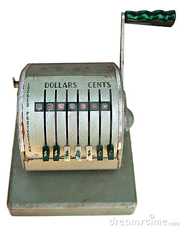 Antique cash register front