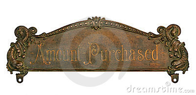 Antique Cash Register Top