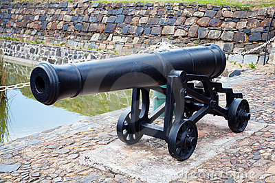 Antique cast iron cannon
