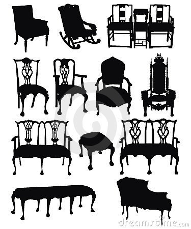 Antique Chairs Silhouettes