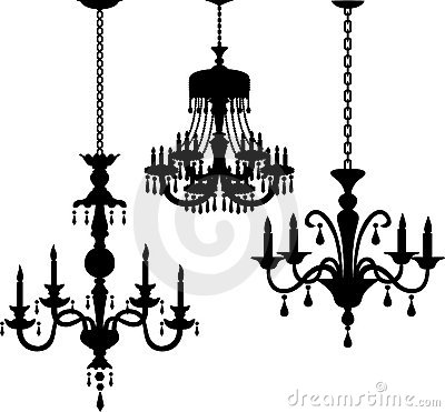 Antique Chandelier Silhouettes/eps