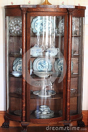 Antique China Cabinet Stock Images Image 34910414
