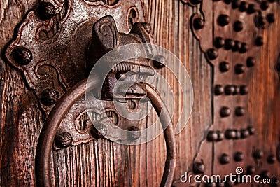 Antique chinese door knocker