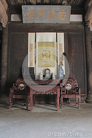 Free Antique Chinese Furniture In Historic Building Stock Photos - 40794263