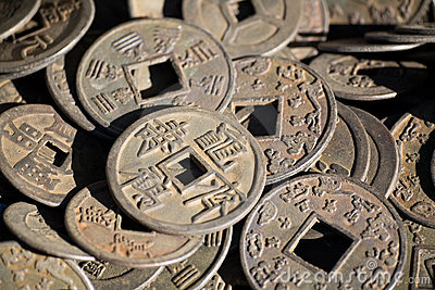 Antique chinese money