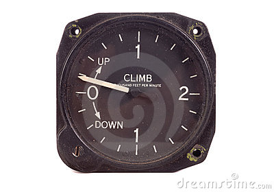 Antique climb decend indicator