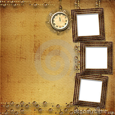Antique clock face with lace