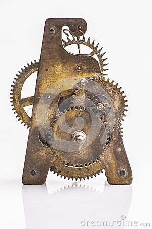 Antique clock gears