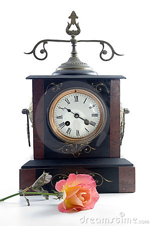 Antique clock with spanish ros