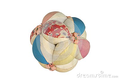 Antique cloth ball