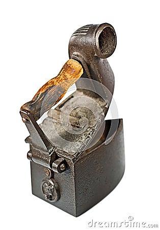 Antique Coal Iron On White