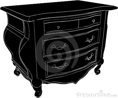 Antique Commode Vector 02