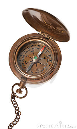 Free Antique Compass Isolated Stock Photo - 19084570