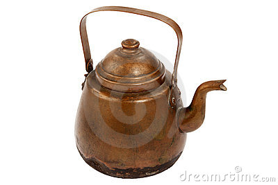 Antique copper coffee pot