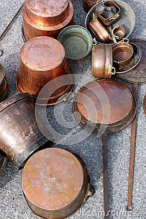 Antique Copper Pots