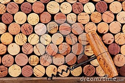 Antique Cork Screw and Corks