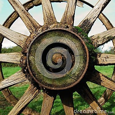 Free Antique Country Wagon Wheel Royalty Free Stock Photo - 1341495