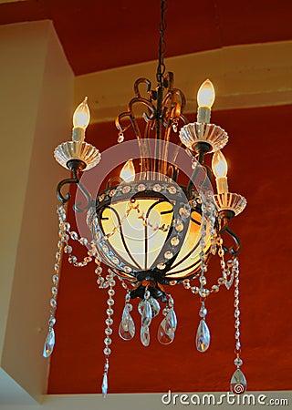 Antique Crystal Lighting Fixture