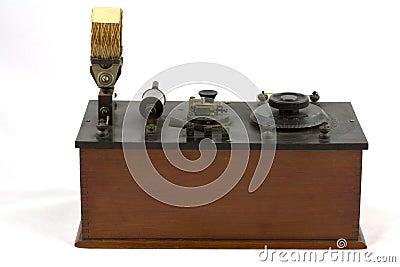 Antique crystal radio receiver