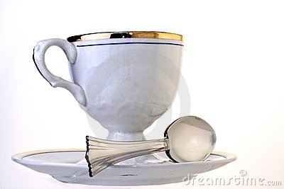 Antique Cup,Saucer and Spoon